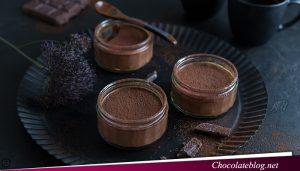 Makan Makanan Penutup Mousse Cokelat
